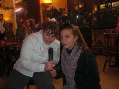 Soirée karaoké, soirée hallowen, Laura et moi: