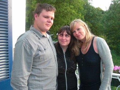 Christian, Amandine et moi: