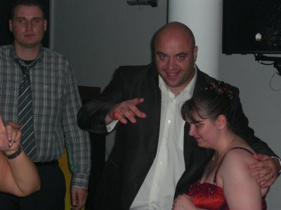 Dj Max et moi pour le mariage de Max et Coralie.