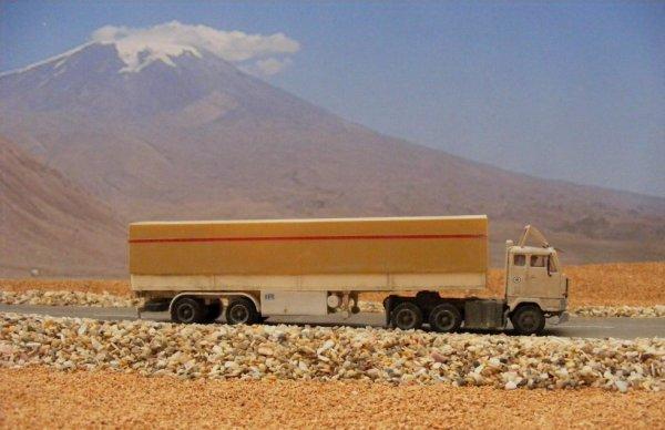 Iranian Volvo F89, near Mount Ararat!