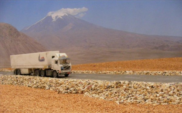 Iranian Volvo F12, near Mount Ararat!