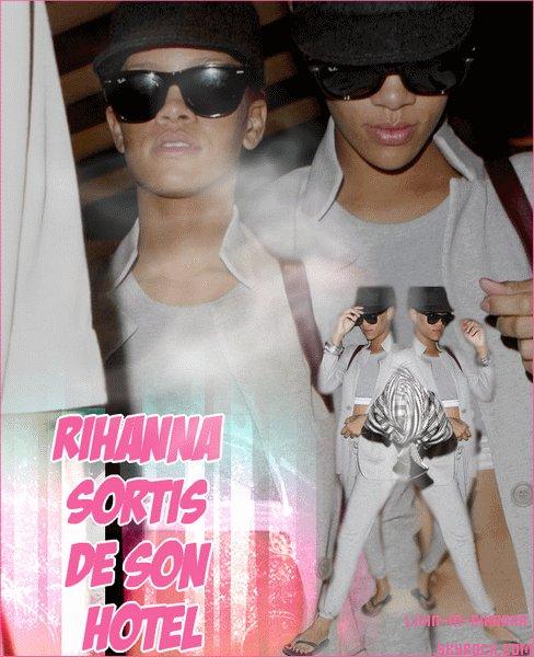 Rihanna sort de sont hôtel , comment trouve tu sont look ?  Posté le: o2/o9/2o1o