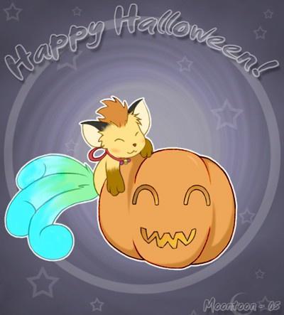 Corine à halloween