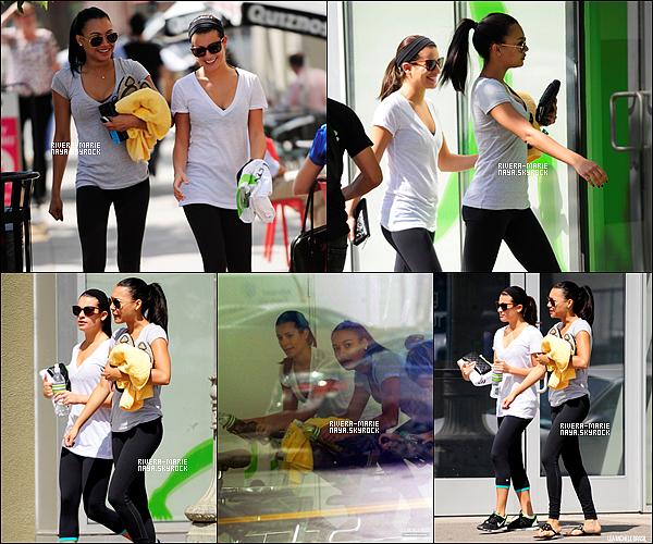 """. 27/09/11 : Miss Rivera et son amie Lea Michele se rendaient dans une salle de sport de Los Angeles. Découvrez aussi une nouvelle vidéo promotionelle pour l'épisode 3 de la saison 3 de Glee, intitulé """"Asian F"""".  ."""