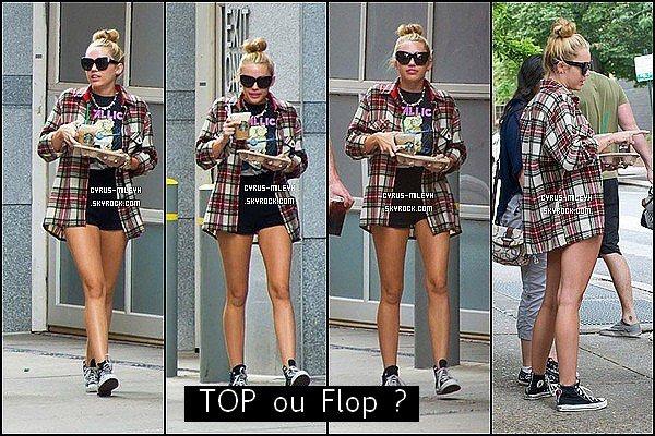 Posté le 29 juillet : Miley est à Philadelphie avec Liam en se promenant avec Ziggy+PP