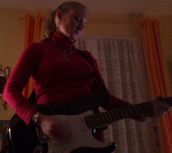 en mode guitariste