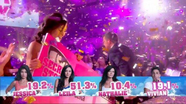 LEILA REMPORTE L'AVENTURE SECRET STORY 8 AVEC 51.3% DES VOTES !