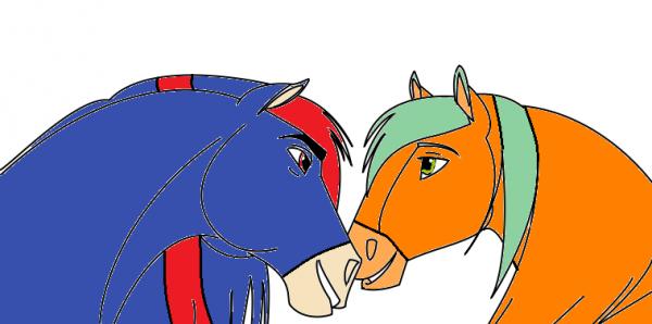 Shadic et Kévin version chevaux