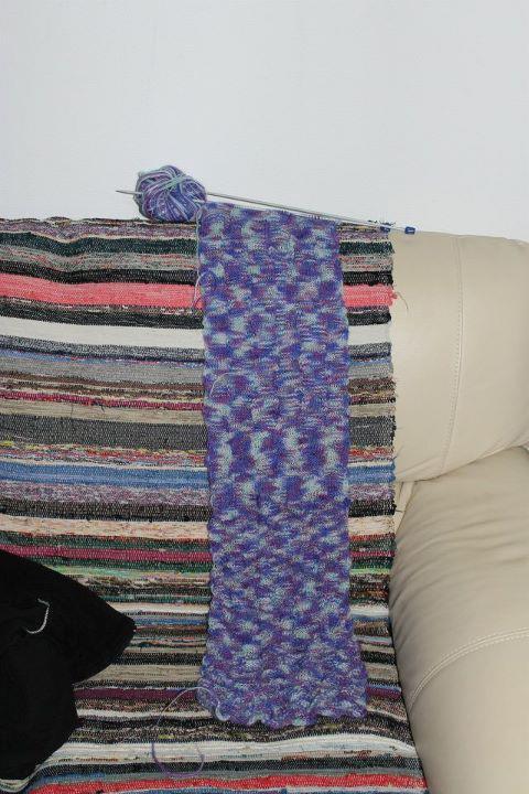 Ma dernière écharpe au tricot
