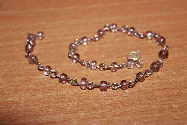 Bracelet rose pâle -