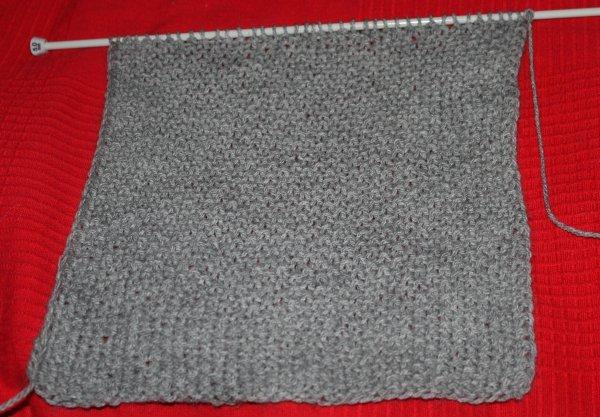 Écharpe homme au tricot -