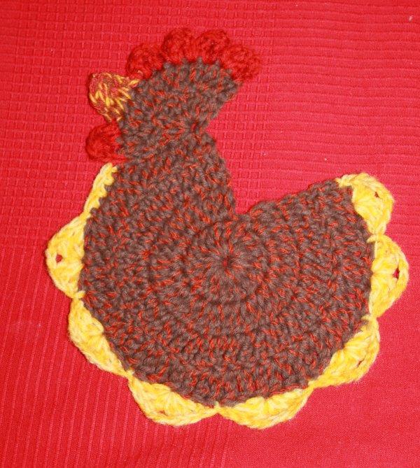 """Manique """"poulette"""" au crochet"""