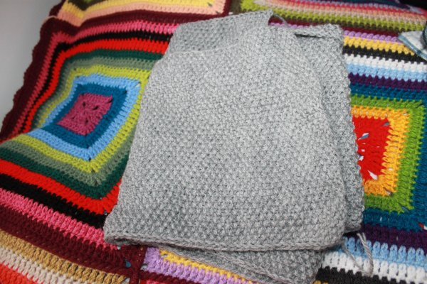 Écharpe homme au tricot -  - FINIE !