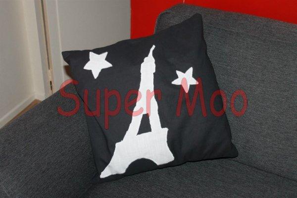 2e coussin en appliqué - thème Paris