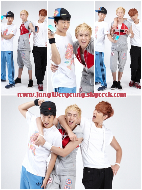 Shoot inconnu.  Avec Wooyoung, Nichkhun, Chansung. ♥