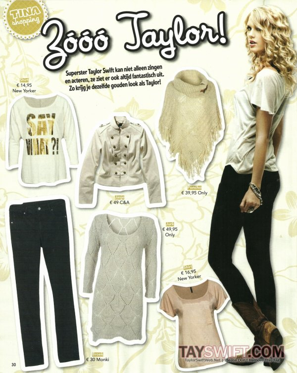 • Taylor apparaît dans le numéro de décembre du magazine 'Tina'.