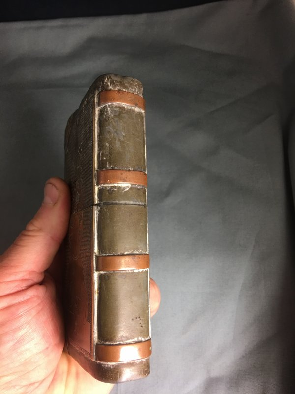 Huge WW1 Trench Art Prayer Book Lighter 1918 Lyon