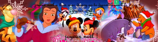 Joyeux no l a tous disney go to dream - Joyeux noel disney ...