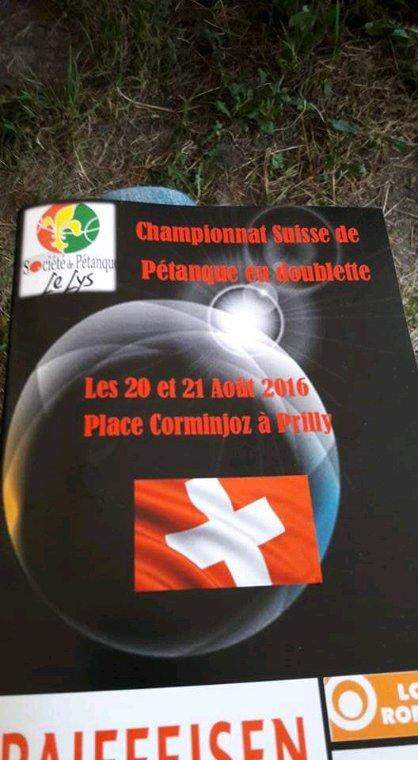 ~Championnat Suisse de Pétanque en Doublette 2016~