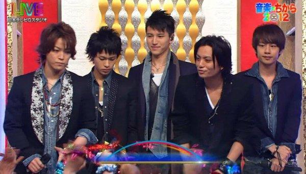 KAT-TUN on Ongaku no Chikara 2012' Chokuzen SP