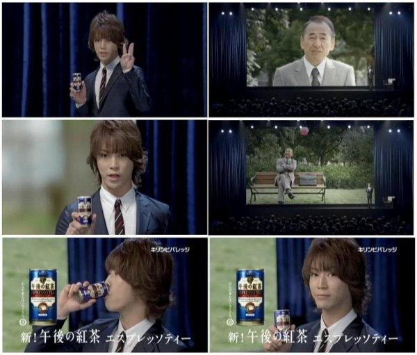 4nouveau CM pour Kazuya: 1 Panasonic et 3 Kirin