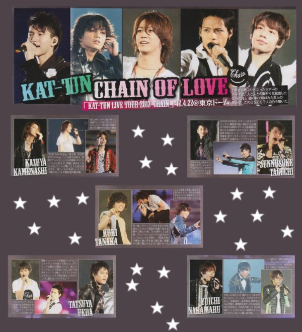 KAT-TUN dans TV Pia de juin