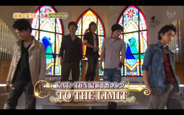 "KAT-TUN ""To the limit"" perf dans Ichiban song show"