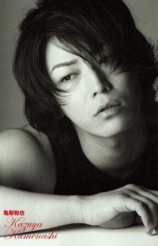 Kazuya en noir et blanc