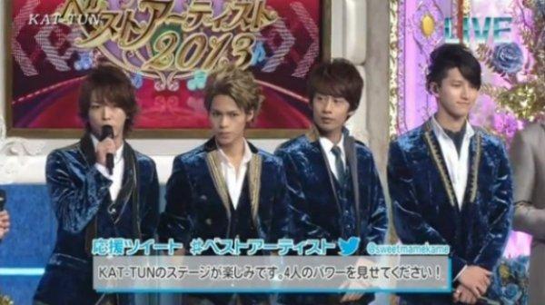 KAT-TUN et Hottake band dans Best artist 2013