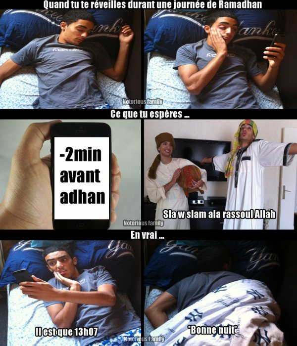 Durant une journée de Ramadhan ..