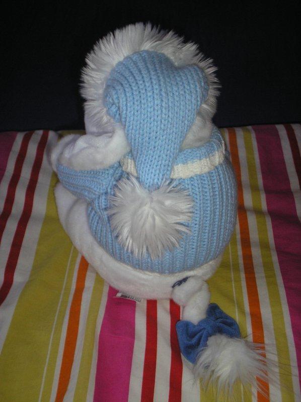 blanc et bleu manteau