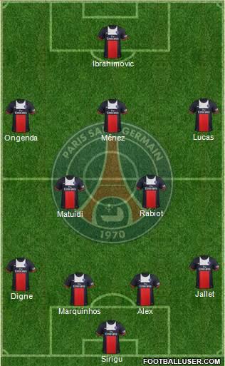 Paris Saint-Germain - SC Bastia : 4-0