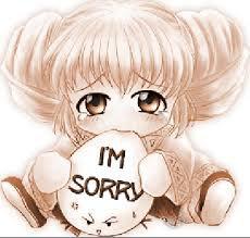 ごめんなさい!désolé les amies!