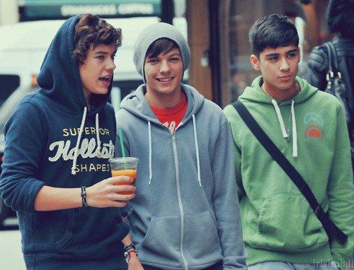 Harry Styles, Louis Tomlinson, et Zayn Malik