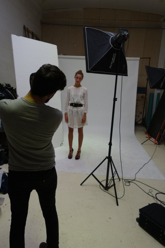 Backstage shooting photo des gagnants du concours
