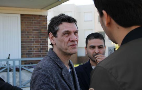 Compiègne : Marc Lavoine en balade square de l'Echarde