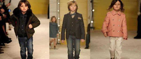 Les enfants de stars, sur les podiums Bonpoint  , MILO ET ROMAN LAVOINE