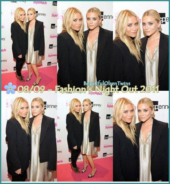Ashley et Mary-Kate on été vue a Fashion Night Out , une soirée de manifestations et de ventes dans les magasins ouverts .