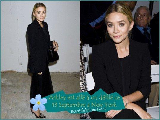 Ashley a un défilé + Mary-Kate et Ashley a un ( autre ) défilé + Ashley a New York