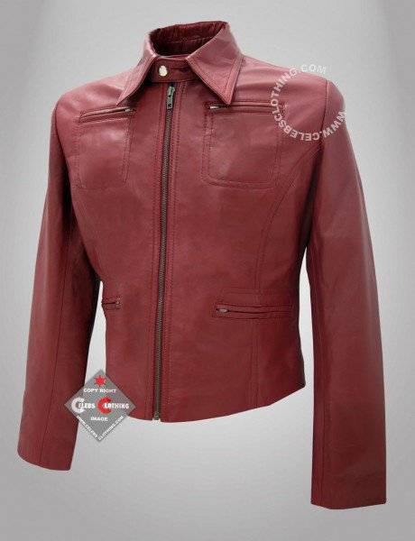 Once Upon A Time Red Real Leather Jacket