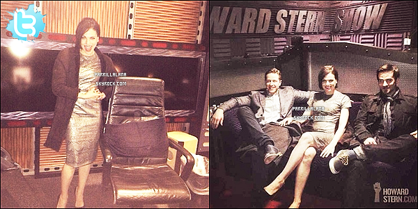 """. 07/03/14 - C'est à la radio """"Sirius xm"""" que l'on retrouve Lana, Jennifer, Josh et Colin ! ."""