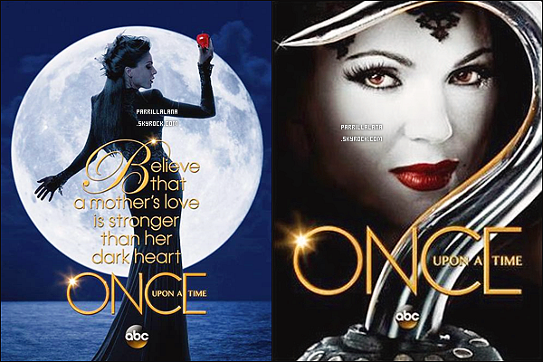 """.Découvrez deux posters de notre """"Evil Queen"""" pour la 3ème saison de OUAT ."""