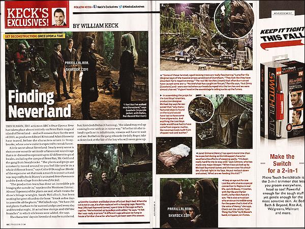 """.Un article dédié à Once Upon a Time est paru dans """"TV Guide Magazine"""". ."""