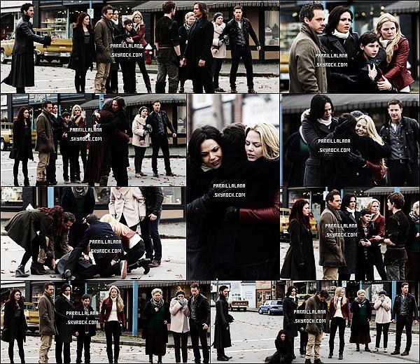 .??/12/13  -  Lana poursuivie par les pap'z dans Central Park, prenant une pause durant le tournage de OUAT. .