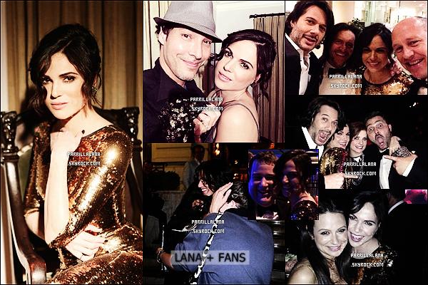 .12/01/14 - Lana était présente à l'after-party des Golden Globes Awards accompagnée de son fiancé.  .