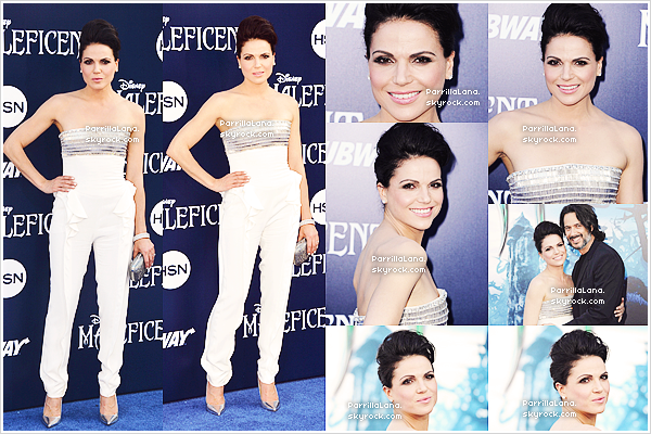 """28/05/14: Lana était présente à la première mondiale du nouveau film Disney """"Maléfique"""", à Los Angeles."""