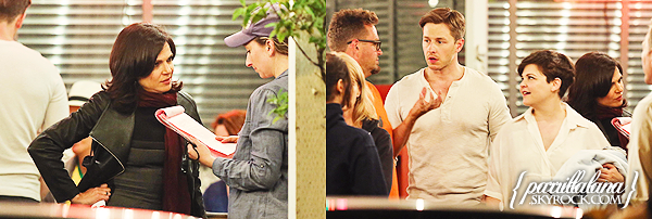 --July 16th (2014) l on set: Once Upon a Time season 4