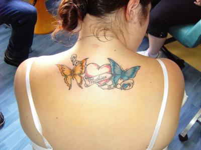 Papillon Coeur Avec Prenom Tattoocool