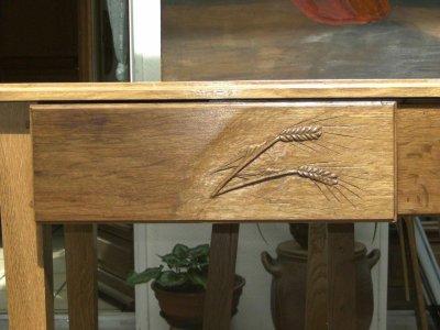 Console - sculpture d' un tiroir