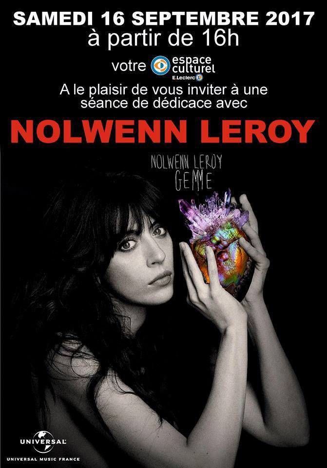 Nolwenn Leroy - Dédicace à l'Espace culturel - E.Leclerc de Moisselles-Daumont (95) 16/09/2017